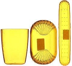 Parfumuri și produse cosmetice Set de accesorii pentru călătorii, 9819, galben - Donegal
