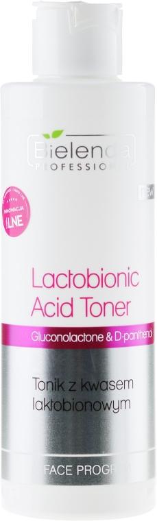 Tonic pentru față cu acid lactobionic - Bielenda Professional Program Face lactobionic Acid Toner — Imagine N1