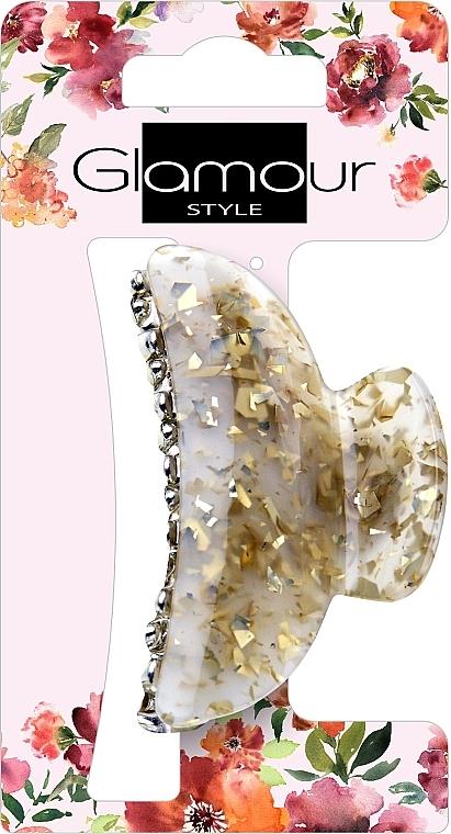 Agrafă de păr, 417624, auriu-lăptișor cu pietre - Glamour