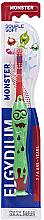 Parfumuri și produse cosmetice Periuță de dinți pentru copii 2-6 ani, roșie - Elgydium Kids Monster Toothbrush