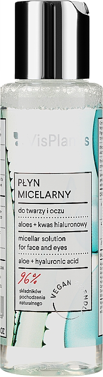 Soluție micelară cu suc de aloe și pantenol - Vis Plantis Herbal Vital Care Micellar Solution 3in1