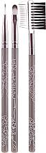 Parfumuri și produse cosmetice Set pensule pentru machiaj, 3 buc, 38167 - Top Choice