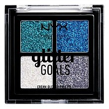Parfumuri și produse cosmetice Paletă glitter cremos - NYX Professional Makeup Glitter Goals Cream Quad Palette