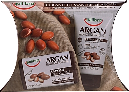 Parfumuri și produse cosmetice Set - Equilibra Argan (h/cr/75ml + soap/100g + cr/4ml)