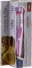 "Parfumuri și produse cosmetice Set ""Pentru iubitorii de ceai și cafea"", liliac-violet - White Glo Coffee & Tea Drinkers Formula Whitening Toothpaste (toothpaste/100ml + toothbrush)"