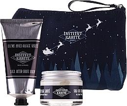 Parfumuri și produse cosmetice Set - Institut Karite Men Shea (f/cr/50ml + ash/balm/75ml + bag)