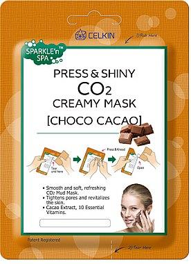 """Masca de față """" Ciocolată"""" - Celkin Press & Shiny CO2 Creamy Mask — Imagine N1"""