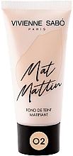 Parfumuri și produse cosmetice Fond de ten, mat - Vivienne Sabo Mat Mattin Mattifying Foundation