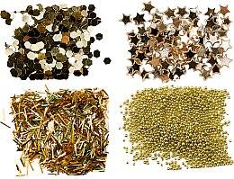 Parfumuri și produse cosmetice Set de glitter, aurii - Peggy Sage Nail Glitter Mini Kit Or