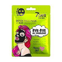 Parfumuri și produse cosmetice Mască de față - 7 Days Total Black Bye bye All Problems Detox Face Mask