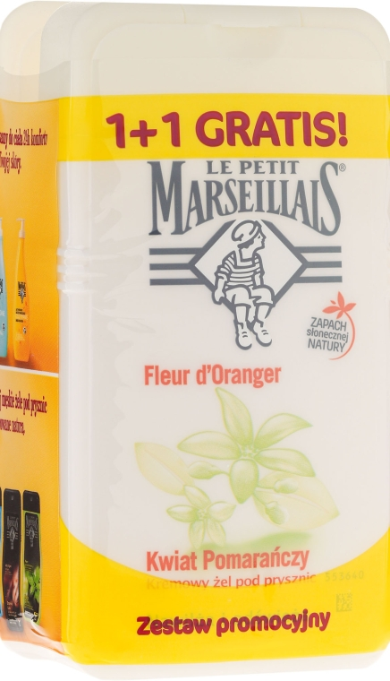 "Set ""Flori de piesic"" - Le Petit Marseillais (sh/gel/250ml + sh/gel/250ml)"