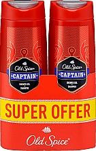 Parfumuri și produse cosmetice Șampon-gel de duș 2în1 - Old Spice Captain Shower Gel + Shampoo