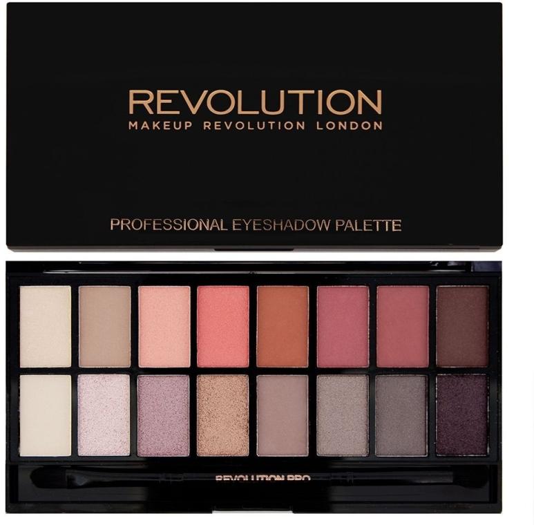 Paletă fard de ochi, 16 nuanțe - Makeup Revolution Profesional Eyeshadow Palette