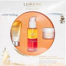 Parfumuri și produse cosmetice Set - Lumene Valo Glow Boosting Ritual (face/balm/15ml+coctail/30ml+cr/15ml)