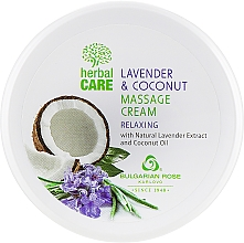 Духи, Парфюмерия, косметика Cremă pentru masaj, cu efect relaxant - Bulgarian Rose Herbal Care Lavender & Cococnut Massage Cream