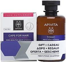 Parfumuri și produse cosmetice Set - Apivita Set (shm/250ml + caps/30pc)