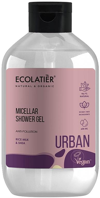 """Gel micelar de duș """"Lapte de orez și shea"""" - Ecolatier Urban Micellar Shower Gel"""