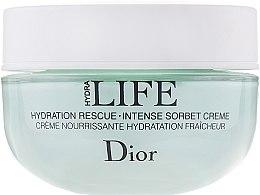 Parfumuri și produse cosmetice Cremă de față - Christian Dior Hydra Life Hydration Rescue Intense Sorbet Creme (tester în cutie)