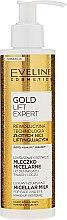 Parfumuri și produse cosmetice Lăptișor demachiant pentru ochi - Eveline Cosmetics Gold Lift Expert