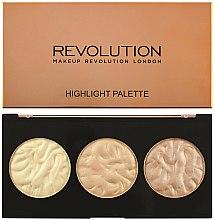 Parfumuri și produse cosmetice Paletă iluminatoare pentru față - Makeup Revolution Highlighter Palette