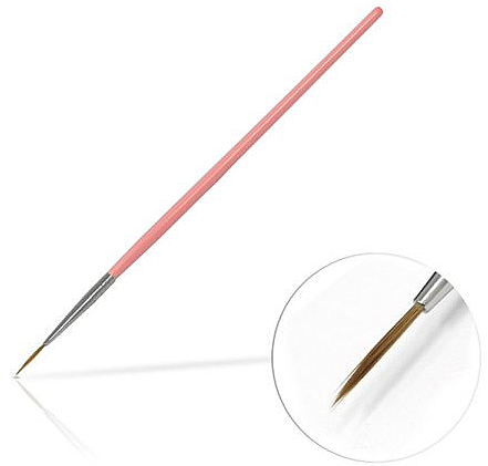 Pensulă de unghii pentru decorațiuni, 10 mm Pink - Silcare Brush 02 — Imagine N1