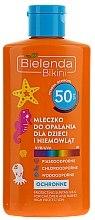 Parfumuri și produse cosmetice Lapte hidratant protecție solară pentru copii SPF50 - Bielenda Bikini Protecting Suntan Milk For Children