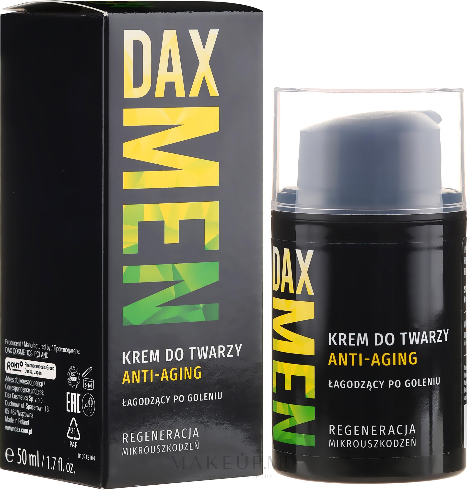 Увлажняющий крем против морщин для мужчин - DAX Men — фото 50 ml
