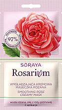 Parfumuri și produse cosmetice Cremă-mască cu extract de trandafir pentru față - Soraya Rosarium Smoothing Cream Rose Mask