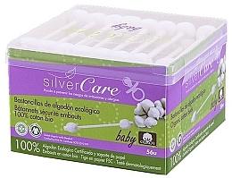 Parfumuri și produse cosmetice Bețișoare din bumbac, pentru copii, 56 bucăți - Silver Care Coton