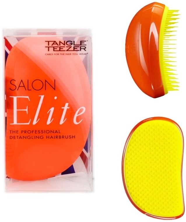 Perie de păr - Tangle Teezer Salon Elite Orange Blush — Imagine N4