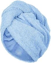 Духи, Парфюмерия, косметика Полотенце-тюрбан для сушки волос, голубое - MakeUp