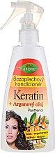 Несмываемый кондиционер для волос - Bione Cosmetics Keratin + Argan Oil Leave-in Conditioner With Panthenol — фото N1