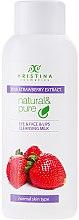 """Parfumuri și produse cosmetice Lapte de curățare pentru piele normală """"Căpșuni"""" - Hristina Cosmetics Cleansing Milk With Strawberry Extract"""