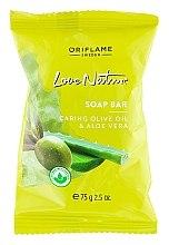 "Parfumuri și produse cosmetice Мыло ""Олива и алоэ"" - Oriflame Love Nature Olive Oil & Aloe Vera Soap Bar"