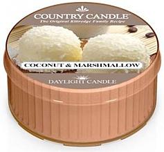 """Parfumuri și produse cosmetice Lumânare de ceai """"Marshmallow de nucă de cocos"""" - Country Candle Coconut Marshmallow Daylight"""