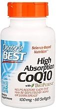 Parfumuri și produse cosmetice Coenzima Q10 cu absorbție ridicată, cu Bioperină, 100 mg, capsule de gelatină - Doctor's Best