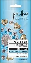 Parfumuri și produse cosmetice Mască hidratantă și exfoliantă cu extract de in - Polka Glitter Peel Off Mask Flax