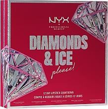 Духи, Парфюмерия, косметика Набор - NYX Professional Makeup Diamonds & Ise 12 Day Lipstick Countdown (lip gloss/3х4.7ml + lip oil/2х4.7ml + lipstick/7pc)