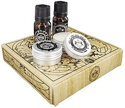 Parfumuri și produse cosmetice Dear Barber Men's Mini Beard Grooming Kit - Set (edt/10 ml + balm/15 ml + oil/10 ml + wax/15 ml)