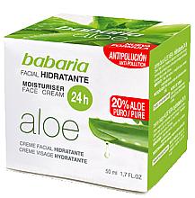 Parfumuri și produse cosmetice Cremă cu extract de aloe vera pentru față - Babaria Aloe Vera 24-Hour Moisturising Face Cream