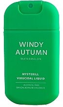 """Parfumuri și produse cosmetice Spray pentru dezinfectarea mâinilor """"Pepene verde"""" - HiSkin Antibac Hand Spray Windy Autumn"""
