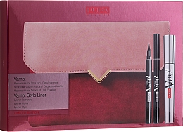 Parfumuri și produse cosmetice Set - Pupa Vamp! Vamp! Stylo Liner (mascara/9ml + eye/liner/1.5ml + bag)