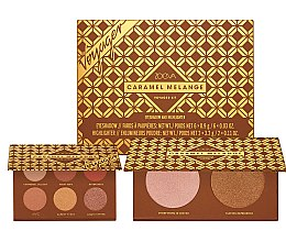 Parfumuri și produse cosmetice Set farduri de ochi și iluminatoare - Zoeva Caramel Melange Voyager (eyeshadow/6x0.9g+highlighter/2x3.2g)