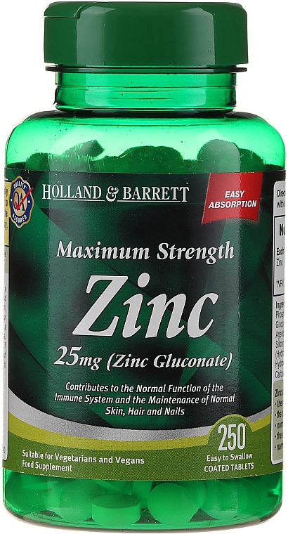 Supliment alimentar Zinc 25 mg - Holland & Barrett Maximum Strength Zinc