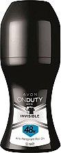 Parfumuri și produse cosmetice Deodorant-Antiperspirant - Avon On Duty Men Invisible Antiperspirant Roll-On