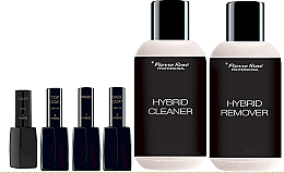 Parfumuri și produse cosmetice Set - Pierre Rene Hybrid 3 Color №54 (primer/11ml+laquer/11ml+top/coat/11ml+base/coat/11ml+cleaner/150ml+remover/150ml)