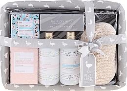 Parfumuri și produse cosmetice Set - Baylis & Harding The Fuzzy Duck Cotswold Collection (sponge + bath soak crystals/100g + soap/200g + show/cr/300ml + b/wash/300ml)