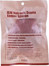 Parfumuri și produse cosmetice Sponge-konnyaku cu cenușă vulcanică - Purito Jeju Volcanic Scoria Konjac Sponge