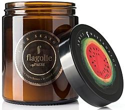 """Parfumuri și produse cosmetice Lumânare parfumată, în borcan """"Pepene verde"""" - Flagolie Fragranced Candle Watermelon"""