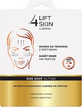 Parfumuri și produse cosmetice Mască cu peptide pentru față - AA Cosmetics Lift 4 Skin Sheet-Mask Copper Tri-Peptide